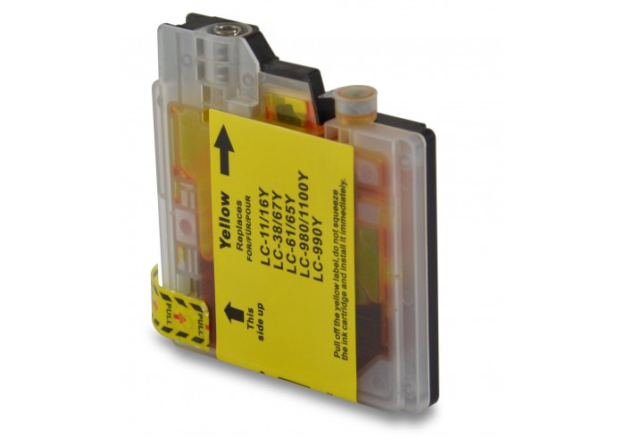 LC1100 LC980 Brother Giallo compatibile rigenerato garantito -