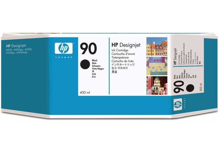 HP Cartuccia d'inchiostro nero C5058A 90 400ml - C5058A 90 - La