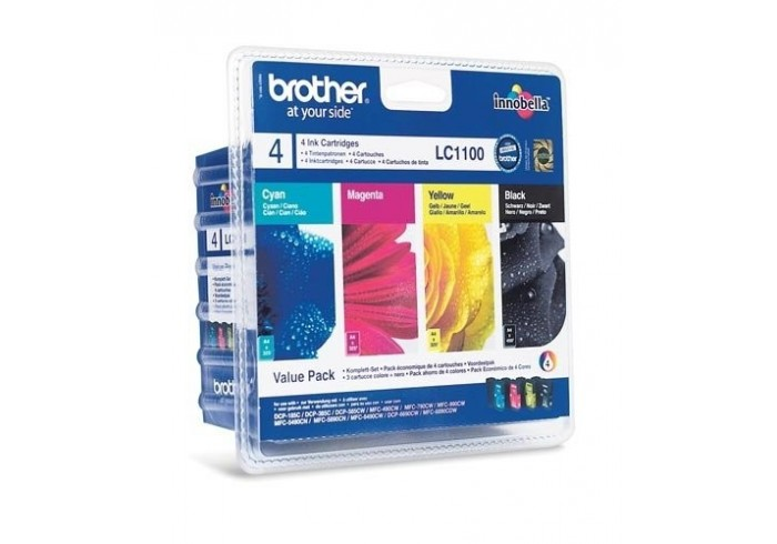Brother Multipack nero/ciano/magenta/giallo LC1100VALBPDR