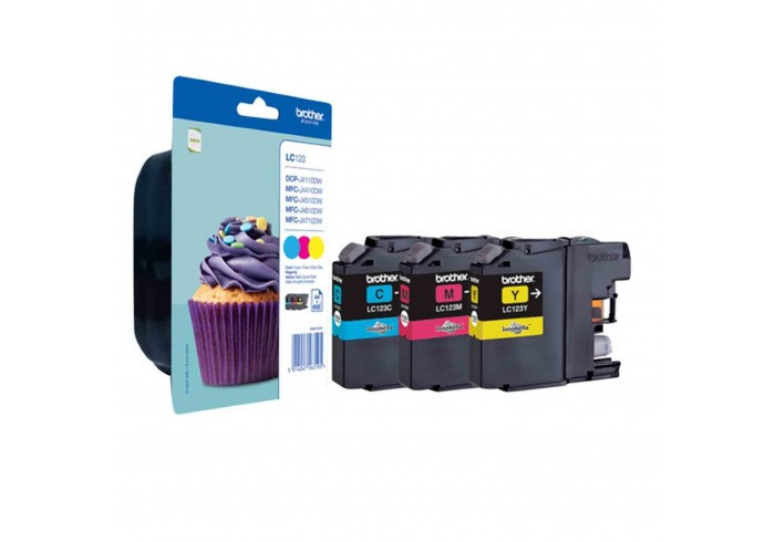Brother Multipack ciano/magenta/giallo LC123RBWBPDR LC-123 3