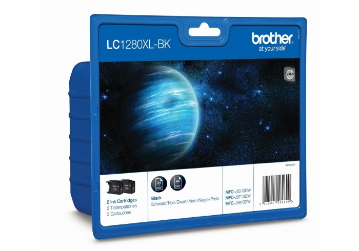 Brother Multipack nero LC-1280XLBKBP2DR LC-1280 XL 2 cartucce