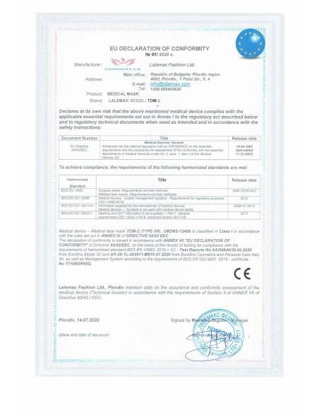 Mascherine chirurgiche certificate - Misura da adulto - Medical