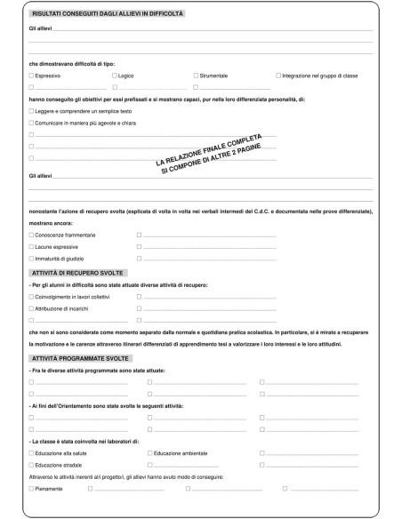 Registro dei verbali consiglio di classe - triennale - Mod.
